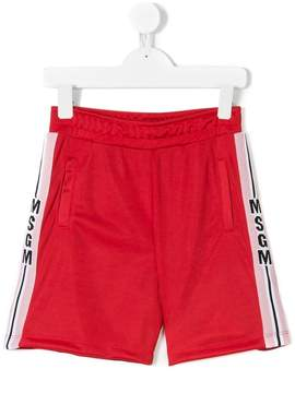 MSGM side-striped track shorts