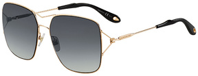 Safilo USA Givenchy 7004 Rectangle Sunglasses