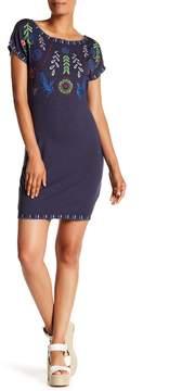 Desigual Embroidered Short Sleeve Dress