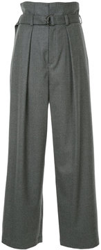 EN ROUTE belted palazzo trousers