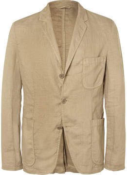 Aspesi Sand Slim-Fit Unstructured Linen Blazer
