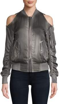 RtA Women's Jester Cold-Shoulder Bomber Jacket
