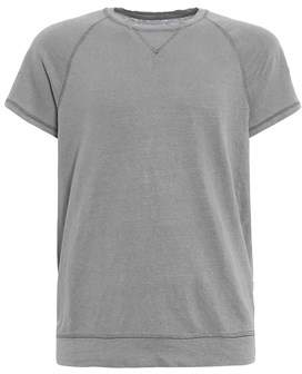 Majestic Men's 02004320 Grey Linen T-shirt.