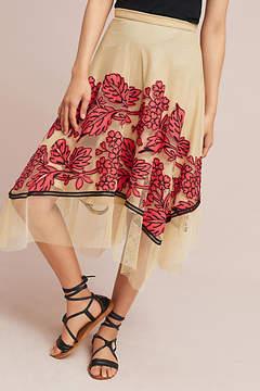 Eva Franco Floral Netted Skirt