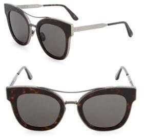 Saint Laurent 50MM Etched Wayfarer Sunglasses