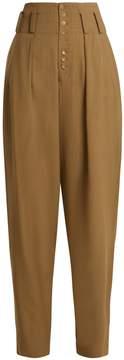 Joseph Howard high-rise draped-leg trousers