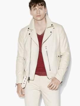 John Varvatos Antique-White Biker Jacket
