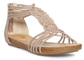 Me Too Nyla Zippered Leather Sandals