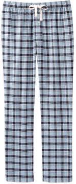 Joe Fresh Men's Plaid Flannel Sleep Pant, Ash Blue (Size XXL)