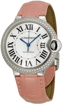 Cartier Ballon Bleu de Silvered Opaline Dial 18kt White Gold Medium Watch