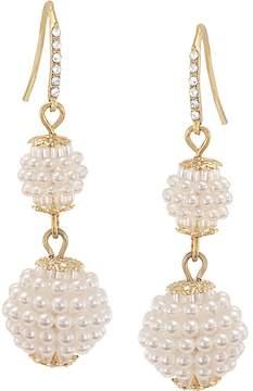 Carolee Simulated Pearl Double Drop Earrings