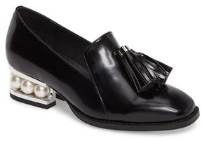 Jeffrey Campbell Women's Lawford Pearly Heeled Loafer