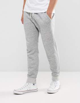 Abercrombie & Fitch Cuffed Joggers Core Slim Fit in Light Gray