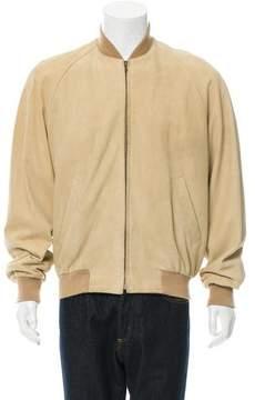 Hermes Printed Lambskin Bomber Jacket