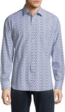 Robert Graham Men's Snapshot Cotton Sportshirt
