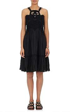 Chloé Women's Lace-Appliquéd Linen Sleeveless Dress