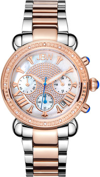 JBW Victory Diamond Chronograph Mother of Pearl Dial Ladies Watch