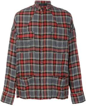 Haider Ackermann tartan pocket shirt