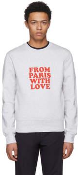Ami Alexandre Mattiussi Grey From Paris With Love Sweatshirt