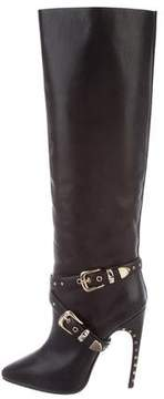 Emilio Pucci Leather Knee-High Boots