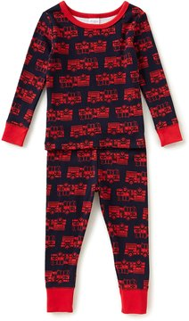 Starting Out Baby Boys 12-24 Months Firetruck-Print Top & Pants Pajama Set