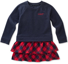 Tommy Hilfiger Layered-Look Plaid Dress, Toddler Girls (2T-5T)