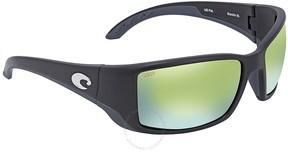 Costa del Mar Blackfin Green Mirror Rectangular Sunglasses BL 11 OGMP
