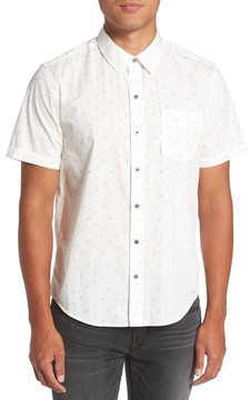 Paige Men's Becker Dot Print Woven Shirt