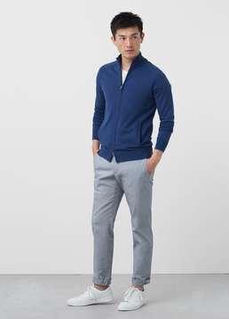 Mango Outlet Cotton cashmere-blend cardigan