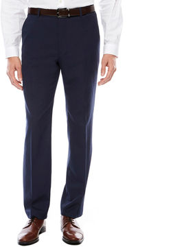 Jf J.Ferrar JF Men's Stretch Woven Flat-Front Straight-Leg Slim Fit Suit Pants