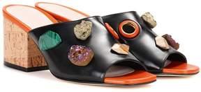 Christopher Kane Embellished leather sandals