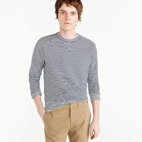 J.Crew Wallace & Barnes cotton crewneck sweater in indigo stripe