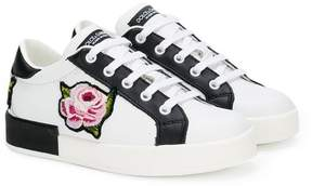 Dolce & Gabbana rose patch sneakers