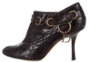 Christian Dior Cannage Leather Booties