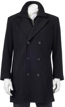 Chaps Men's Classic-Fit Double-Breasted Wool-Blend Top Coat