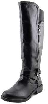 G by Guess Hailee Wide Calf Women Round Toe Synthetic Black Knee High Boot.