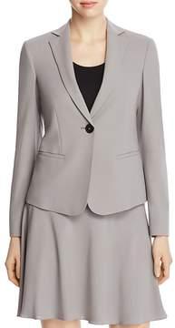 Armani Collezioni Single-Button Stretch-Wool Blazer