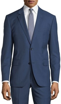 Neiman Marcus Two-Button Sharkskin Two-Piece Suit, Blue