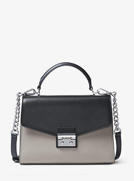Michael Kors Sloan Color-Block Leather Satchel - GREY - STYLE