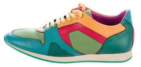Burberry Colorblock Leather Sneakers