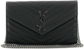 Saint Laurent Monogram Shoulder Bag - GRAY - STYLE