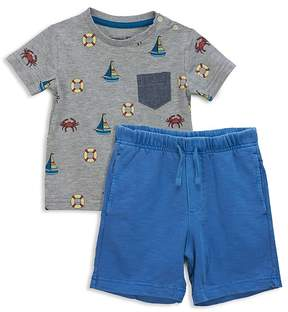 Sovereign Code Boys' Nautical Tee & Shorts Set - Baby