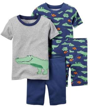 Carter's Baby Clothing Outfit Boys 4-Piece Snug Fit Cotton PJs Alligator Print Navy