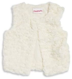 Flapdoodles Little Girl's Faux Fur Vest