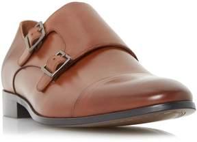 Dune London REYNOLDS - TAN Toecap Detail Double Strap Monk Shoe