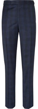 Richard James Blue Hyde Checked Wool Suit Trousers