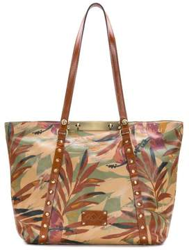 Patricia Nash Benvenuto Leather Palm Leaves Tote