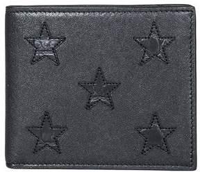 Saint Laurent Black Wallet With Stars - BLACK - STYLE