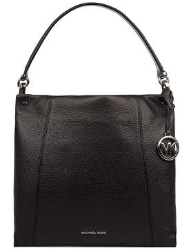 Michael Kors Black Lex Hammered Leather Shoulder Bag - BLACK - STYLE