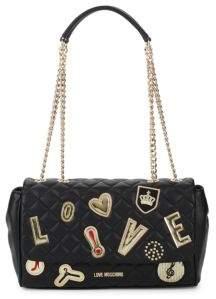 Love Moschino Patchwork Shoulder Bag